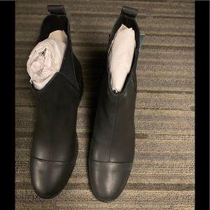 TOMS Esme Black Leather Booties